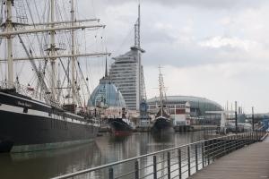 Dreimaster Segelschiff Bremerhafen